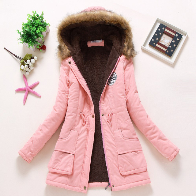 Ailegogo Women Winter Military Coats Cotton Wadded Hooded Jacket Casual Parka Thickness Warm XXXL Size Quilt Snow Outwear 6