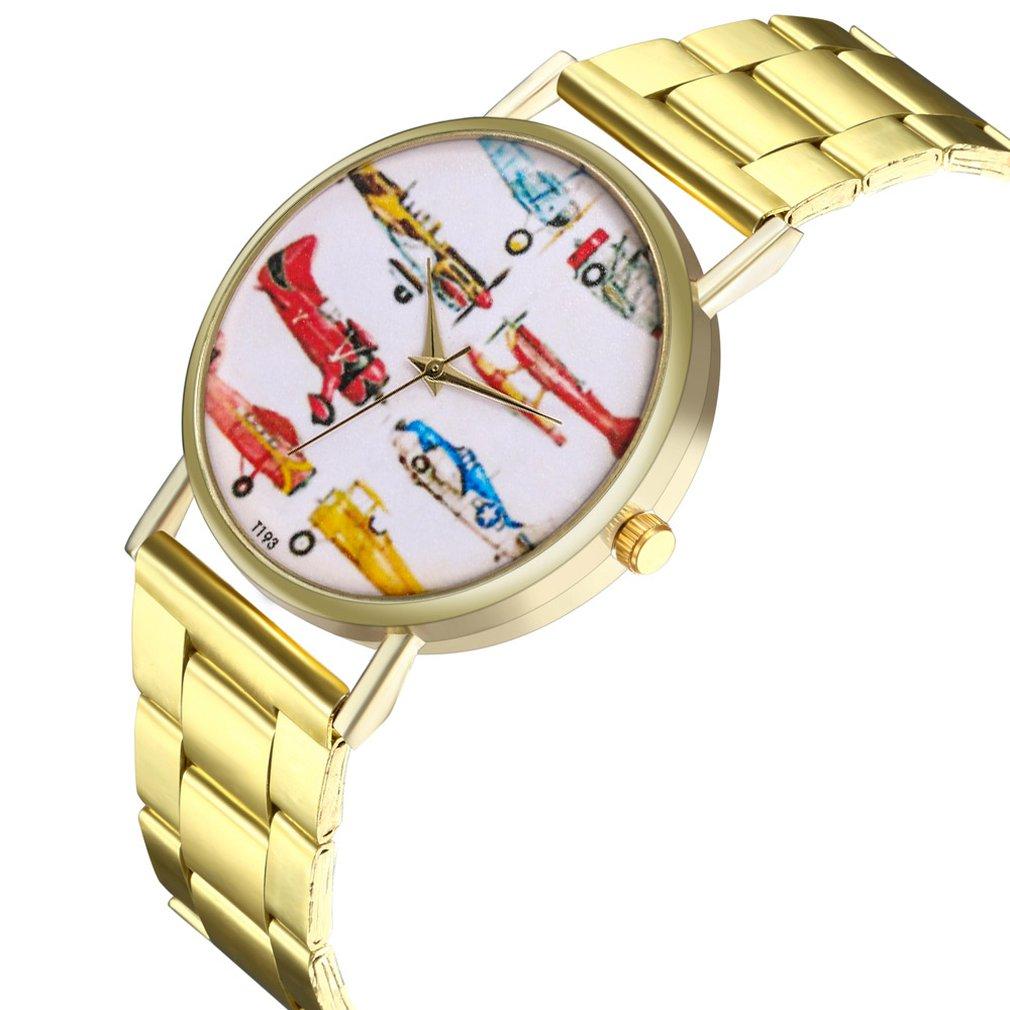 Women Watch Quartz Watch Stainless Steel Strap Different Patterns Quartz Wristwatch For Women Men