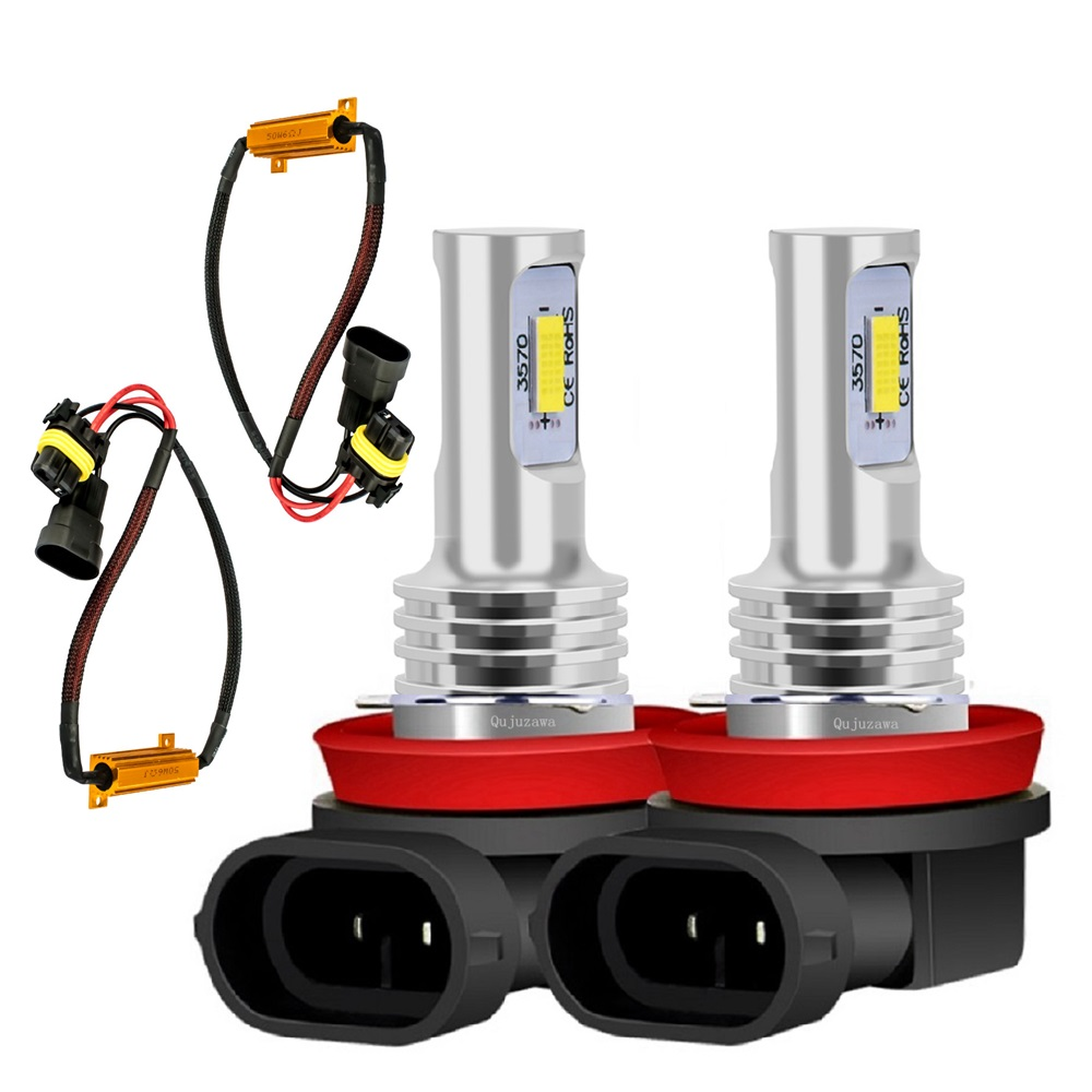 2 Pièces H8 H11 CSP LED Lampe De Brouillard De Voiture Conduite Lumière Canbus Décodeur Résistance de Charge Pour Skoda Octavia 1 2 3 MK1 MK2 MK3 5E 1Z 1U A5 A7