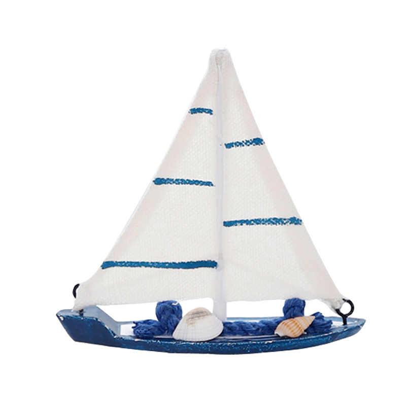 حار بيع! البحرية البحرية الإبداعية المراكب الشراعية وضع ديكور غرفة التماثيل المنمنمات نمط البحر الأبيض المتوسط السفينة قارب صغير الحلي