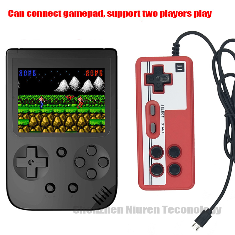 Built-in 500 games Retro Mini Handheld Video Game Console 8-Bit 3.0 Inch Color LCD Kids Game Player TV Output Function