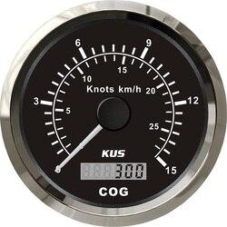 Universal KUS Boat Truck Auto Trailer Car Yacht Vessel 85MM GPS COG 15knots km/h 12V/24V Speedo Speedometer