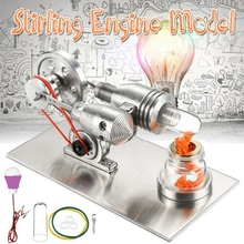 Air Stirling Engine Experiment Model Power Generator Motor Educational Physic Steam Power stirling engine micro engine external combustion engine metal model m16 01 02 d