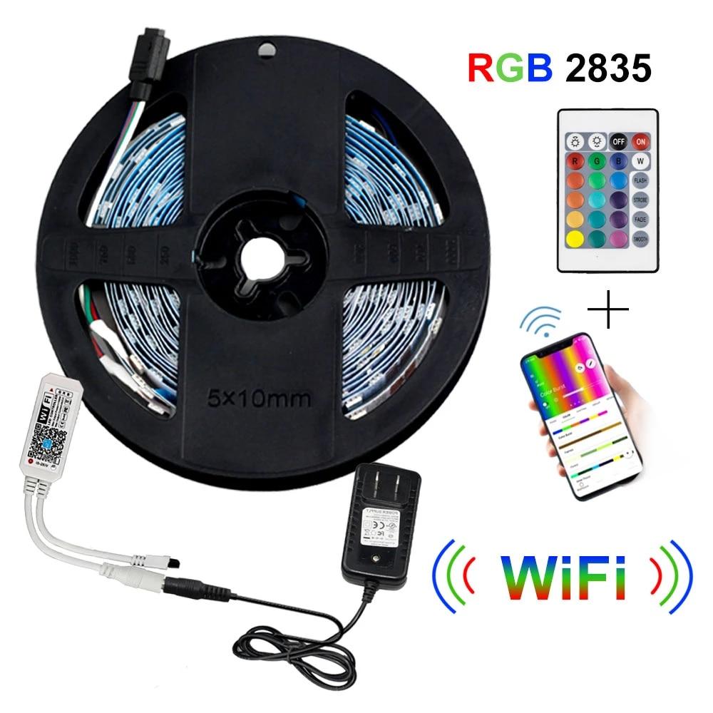 LED Strip Light Powered Supply RGB Light 12V 300Leds 5m 2835 Lighting Decor