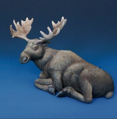 1/35 Modern Animals Set  Reindeer Rest  Resin Figure Model Kits Miniature Gk Unassembly Unpainted