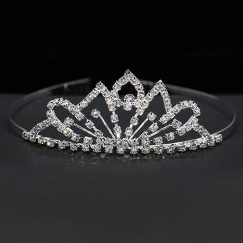 Bride Crown Wedding Bridal Tiaras For Women Party Headdress Crowns Crystal Headband Tiara Wedding Diamond Hair Accessories HG10 image