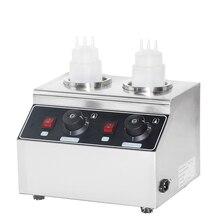 FY-QK-2 коммерческий Электрический подогреватель соуса 160 Вт, бутылки для соуса из нержавеющей стали, подогреватель горячего сыра и шоколада, п...
