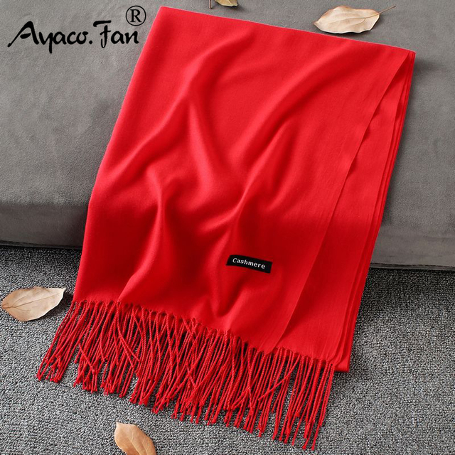 Soft Cashmere New Solid Color Wraps Thin Long Scarf 3