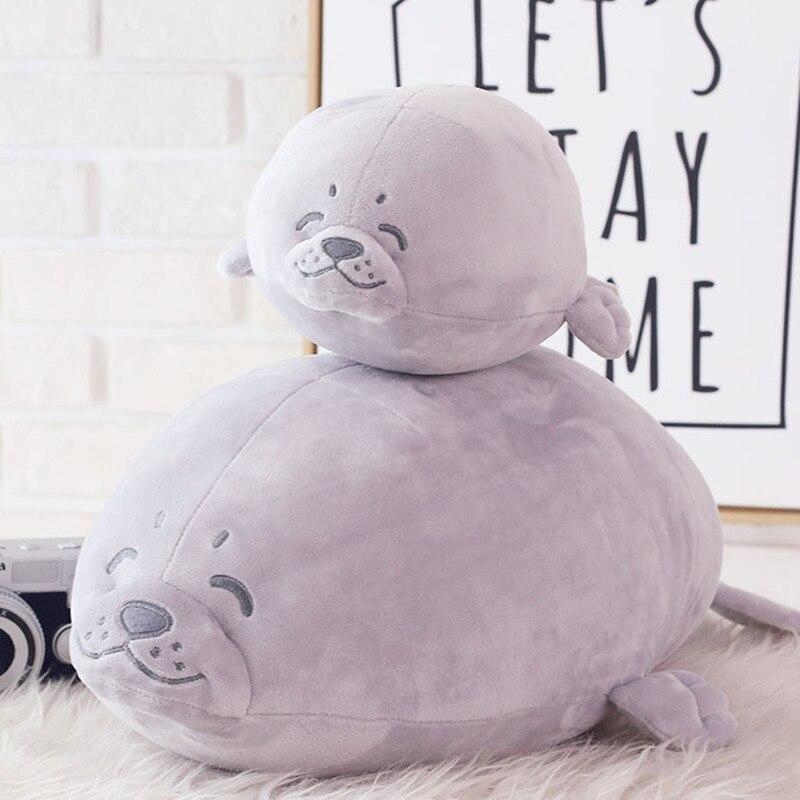 35-65cm Kawaii Soft Sea Lion Plush Toys Marine Seal Toys Cute Pillow Creative Back Cushion Kids Baby Birthday Gift