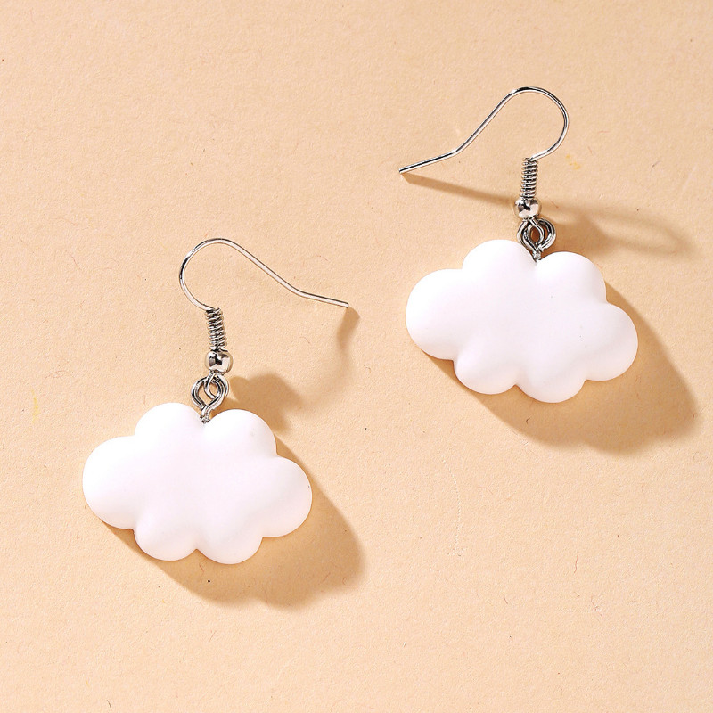 Креативные женские Мультяшные милые серьги в форме облака для друзей подарки ювелирные изделия вечерние аксессуары