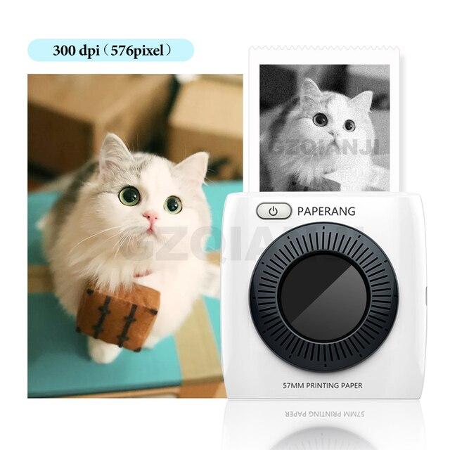 Tasca Mini Stampante Fotografica Portatile Stampante Termica Bluetooth Etichetta Adesiva Macchina per il Mobile Android iOS Finestre PAPERANG P2