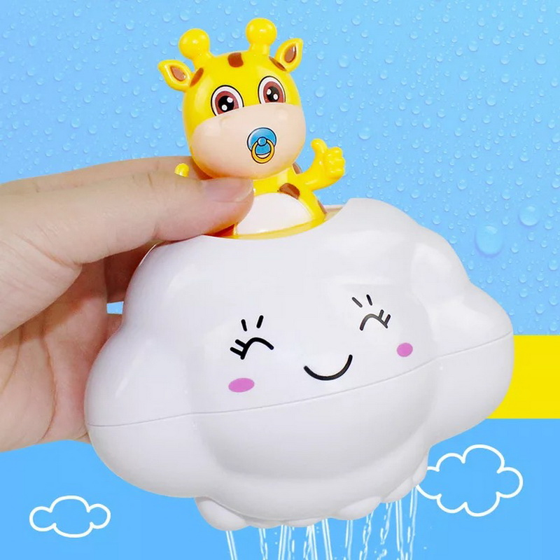 New Boys Girls 2 Styles Shower Toys Kids Swimming Shower Funny Toy Egg Water Spray Sprinkler Toys Baby Cartoon Cute Duck Penguin