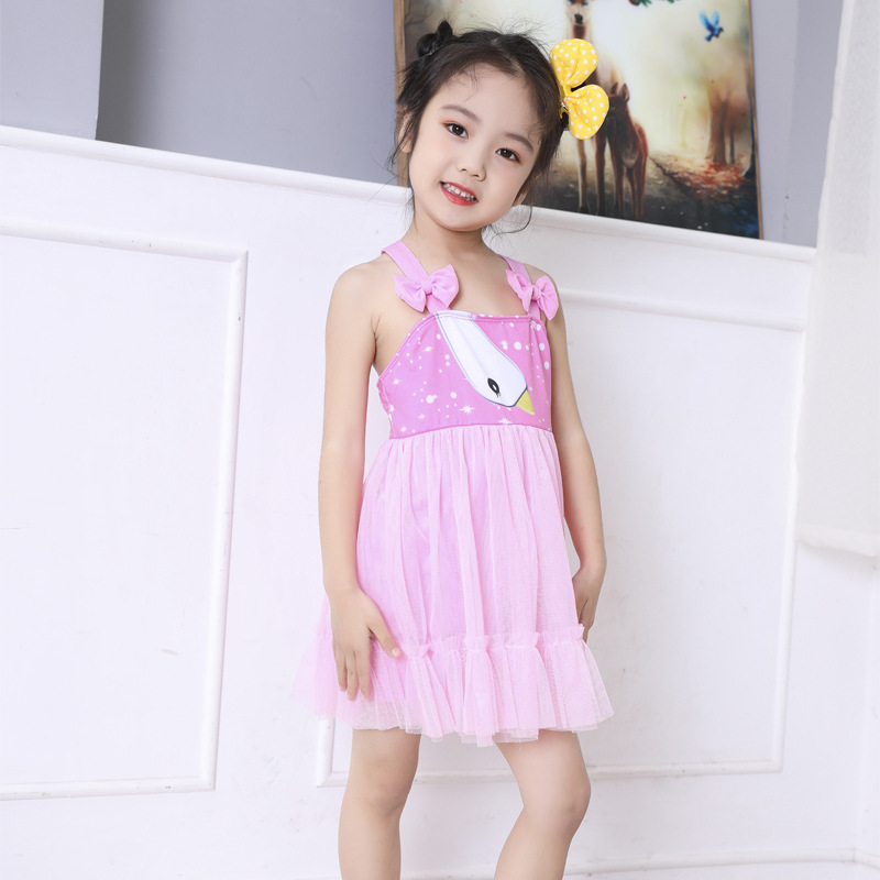 KID'S Swimwear Girls Swimwear One-piece Princess Dress-Small CHILDREN'S Infant Baby Bathing Suit Big Boy Manufacturers Direct Se