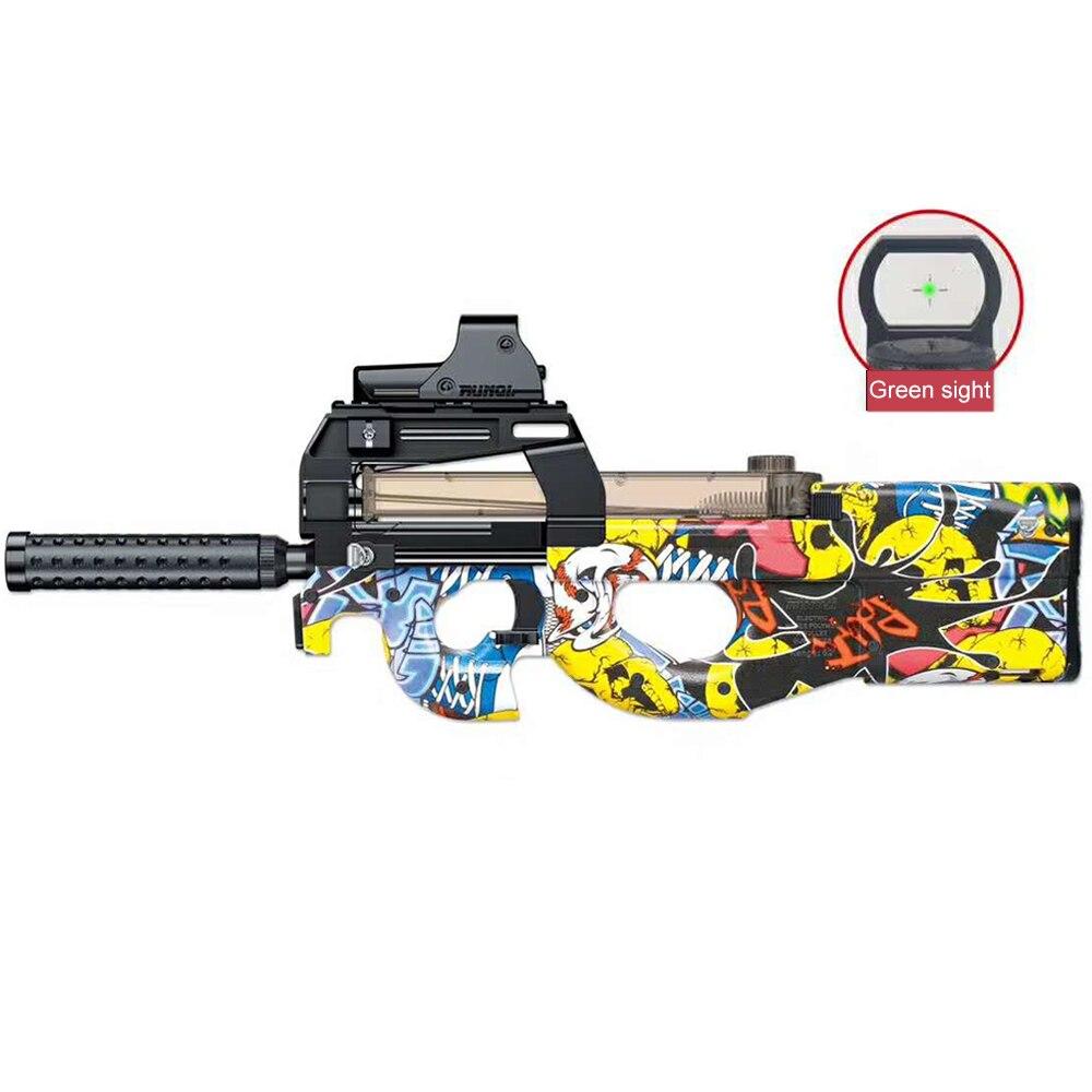 New P90 Electric Blaster Orbiz Toy Guns 7-8mm Water Gel Ball BulletCS Rifle Snipe Weapon Gun Funny Outdoor Pistol Toys Boys Gift