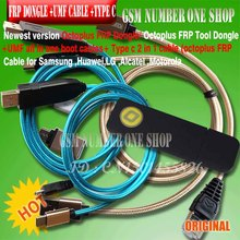 new OCTOPLUS FRP TOOL dongle + umf all in 1 boot cable + type c ( octoplus frp 2 in 1 cable ) for Samsung, Huawei, LG, Alcatel