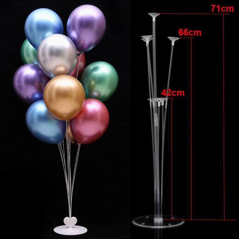 <font><b>7</b></font> <font><b>Tubes</b></font> <font><b>Balloons</b></font> <font><b>Stand</b></font> <font><b>Balloon</b></font> <font><b>Holder</b></font> Confetti <font><b>Balloon</b></font> Chrome Metallic <font><b>Balloon</b></font> Kids Birthday Party Wedding Decoration Supplies image