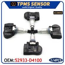 Lastik basıncı monitörü sensörü 52933 F2000 Hyundai Elantra i30 Ioniq Kona Kia Niro Optima Sportage araba TPMS 52933 D4100 433MHz