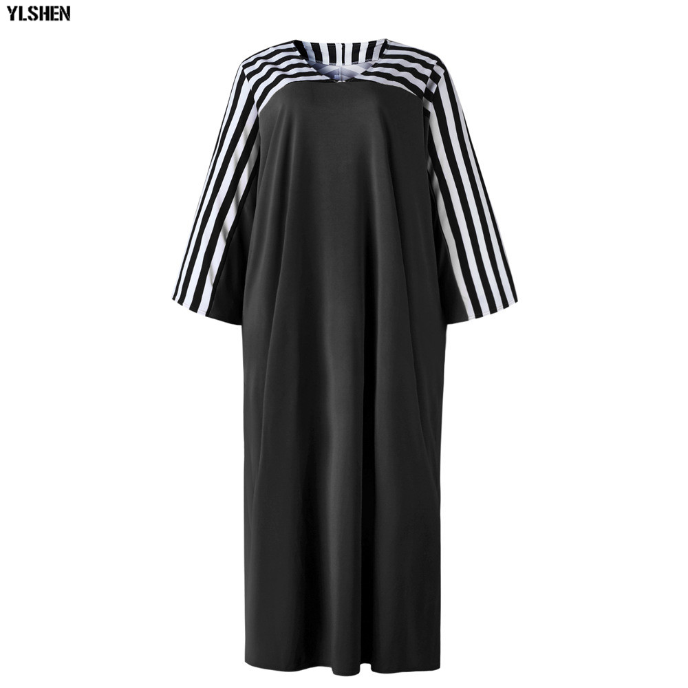 Super Size African Dresses for Women Dashiki Stripe African Clothes New Bazin Riche Sexy V-neck Long Africa Dress Woman Clothing 26