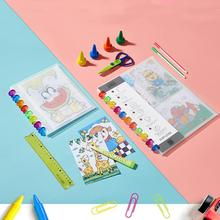 A4/A5 Mushroom Hole Folder Information Display Book Cover Transparent Collection Certificate Pages 20/30 Loose-leaf Photos K6S9