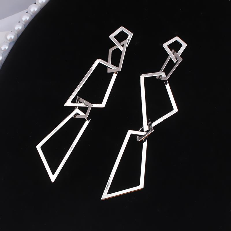 New Geometric Irregular Exaggerated Earring For Women Korean Temperament Fashion Wild Long Earrings Jewelry Girl Gift