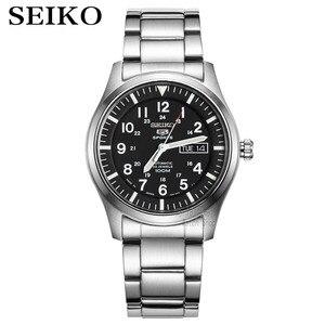 Image 1 - Seiko שעון גברים 5 אוטומטי שעון יוקרה מותג עמיד למים ספורט שעון יד תאריך mens שעונים צלילה שעון relogio masculin SNZG