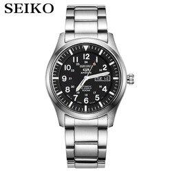 Seiko zegarek męski 5 automatyczny zegarek luksusowej marki wodoodporny zegarek sportowy data męskie zegarki zegarek do nurkowania relogio masculin SNZG w Zegarki sportowe od Zegarki na