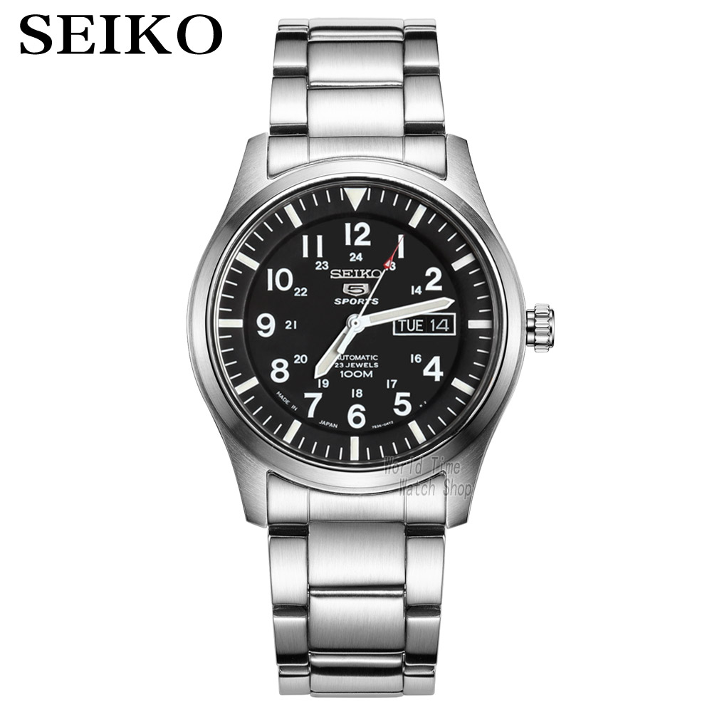 seiko watch men 5 automatic watch Luxury Brand Waterproof Sport Wrist Watch Date mens watches diving