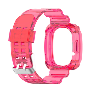 Image 5 - Clear TPU Band Case Cover Comfortable Element Elegant Watch for Fitbit Versa 3 Sense Bracelet Strap Replacement