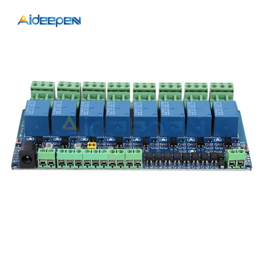Modbus rtu 8-channel relay module 485 TTL communication 8-channel input