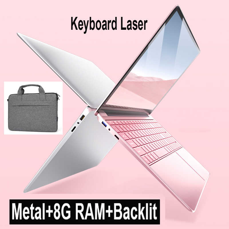 15.6 Inch Laptop 8GB RAM 128G 256G 512GB 1TB SSD Notebook Computer Metal Body 1080P Win10 OS Gaming Laptop with Backlit Keyboard