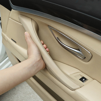 1pcs For BMW 5 series F10 F11 Beige Black Car left right inside Interior Handle Inner Door Panel Pull Trim Cover image