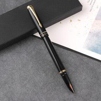 Hero 7025 metal  fountain pens fountain pen ink pen black gold gift   FREE shipping цена 2017