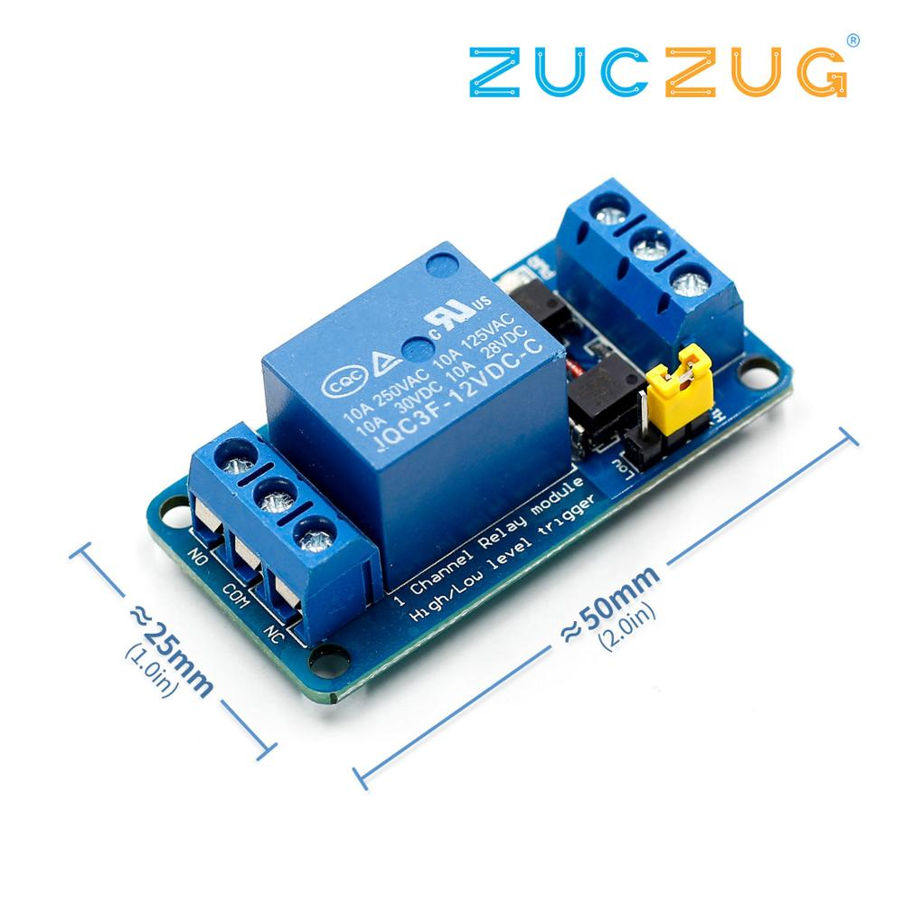 3.3V 5V 12V 24V 1 Channel Relay Module High and low Level Trigger Dual Optocoupler Isolation Relay Module Board image