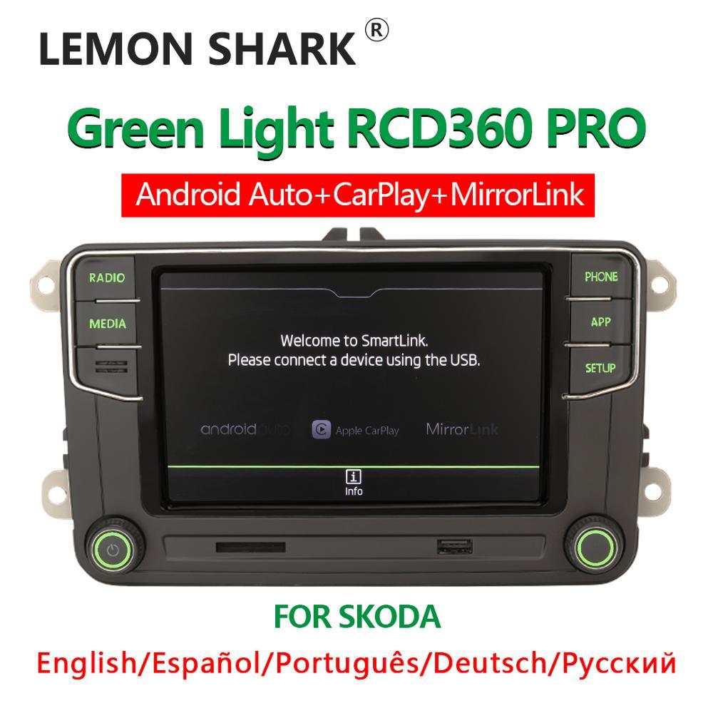 Noname RCD360 PRO зеленый светильник автомобиль MIB радио Android Авто Carplay зеленое меню новый 6RD 035 187B для VW для Volkswagen для Skoda