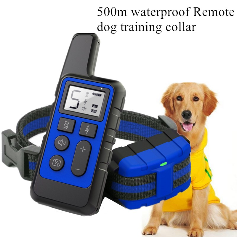 Dog Training Collar Pet Waterproof Rechargeable Shock sound Vibration Anti Bark 500m Remote Control for multiple Size dog 40%off Training Collars    - AliExpress