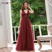 Rosa Prom Kleider Immer Ziemlich EP00780PK Appliques A-Line Tiefem V-ausschnitt Sleeveless Elegante Gala Kleider Für Partei Vestido Formatura