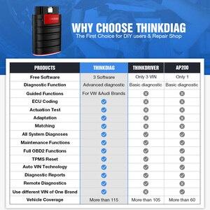 Image 5 - Thinkcar lector de código Thinkdiag Old Boot V1.23.004, herramienta de escáner Bluetooth, 1 año de actualización gratuita, OBD2, Nueva Versión