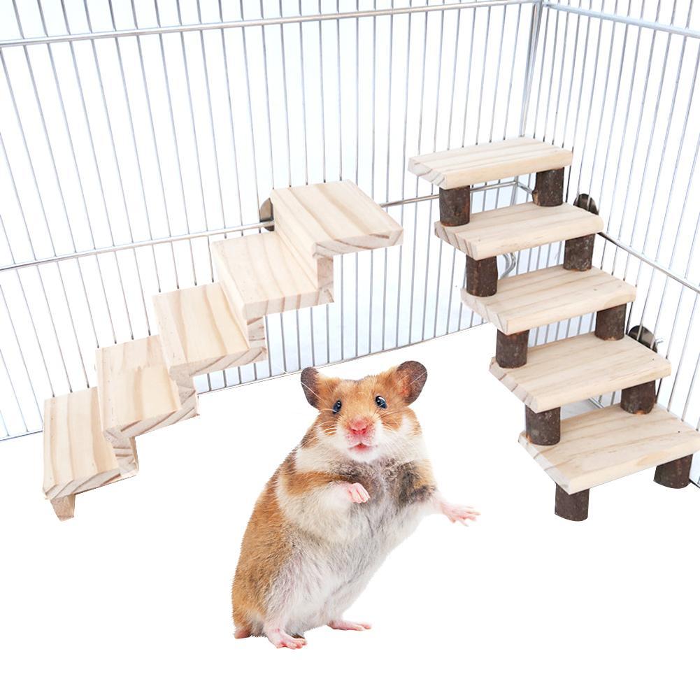 font b Pet b font Hamster Mouse Bird Wooden Bridge Climbing Ladder Exercise Game Stairs