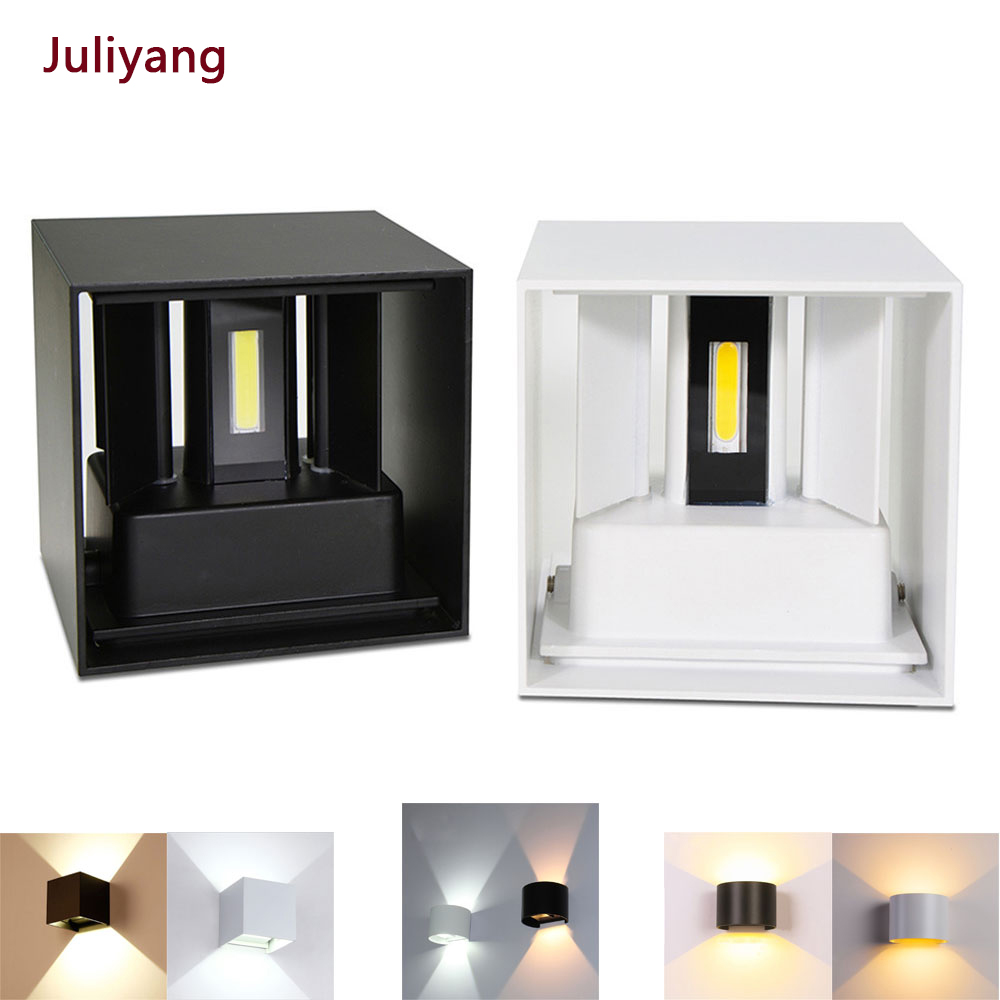 12W Waterproof Outdoor Indoor Led Wall Lamp Modern Aluminum Adjustable Wall Light Bedroom Hallway Porch Balcony