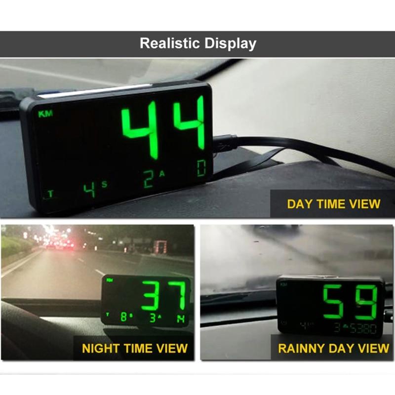 C80 цифровой автомобильный hud head up display gps измеритель