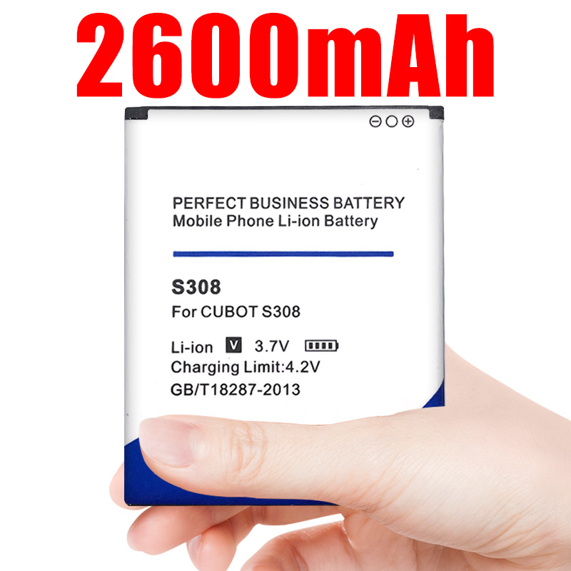 Cell Phone <font><b>Battery</b></font> <font><b>S308</b></font> For <font><b>Cubot</b></font> Replacement <font><b>Batteries</b></font> High Capacity 2600mAh image