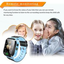 цена на Kids Smart Watch with GPS GSM Locator Touch Screen Tracker SOS Flashlight With Alarm Step counter Camera SmartWatch