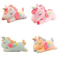 40CM Soft Unicorn Plush Toy Baby Sleeping Pillow Doll Animal Stuffed Plush Toy Birthday Gifts for Girls Children