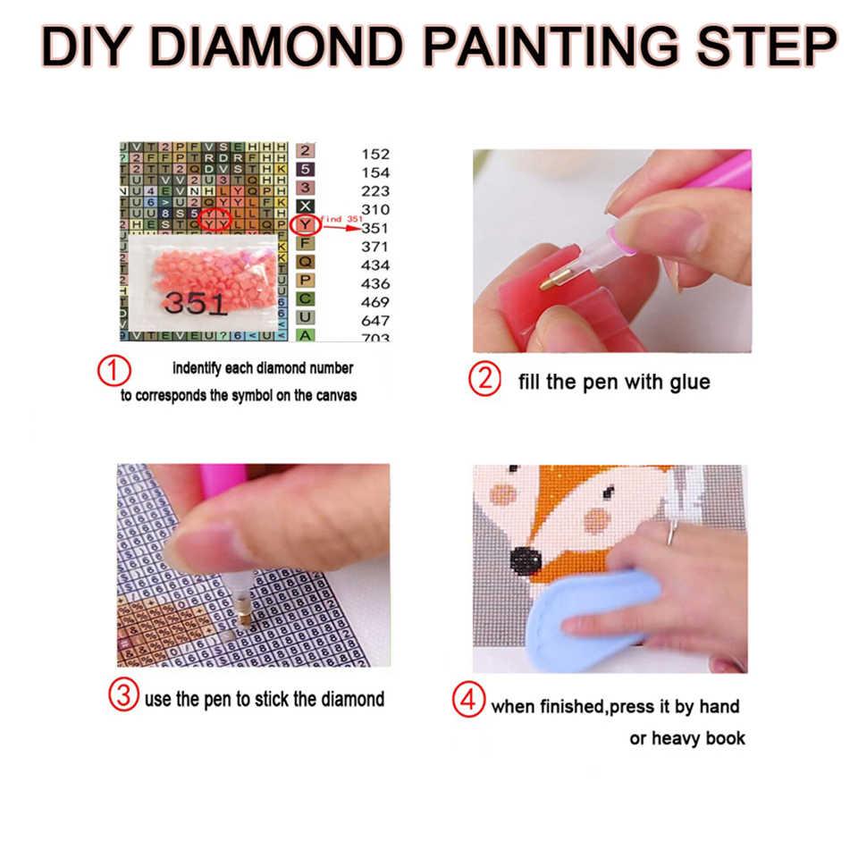 Diy Diamant Schilderij Kruissteek Volledige Ronde Boor Japanse Anime Foto 5D Mozaïek Mijn Hero Academia Handgemaakte Wall Art Home deco
