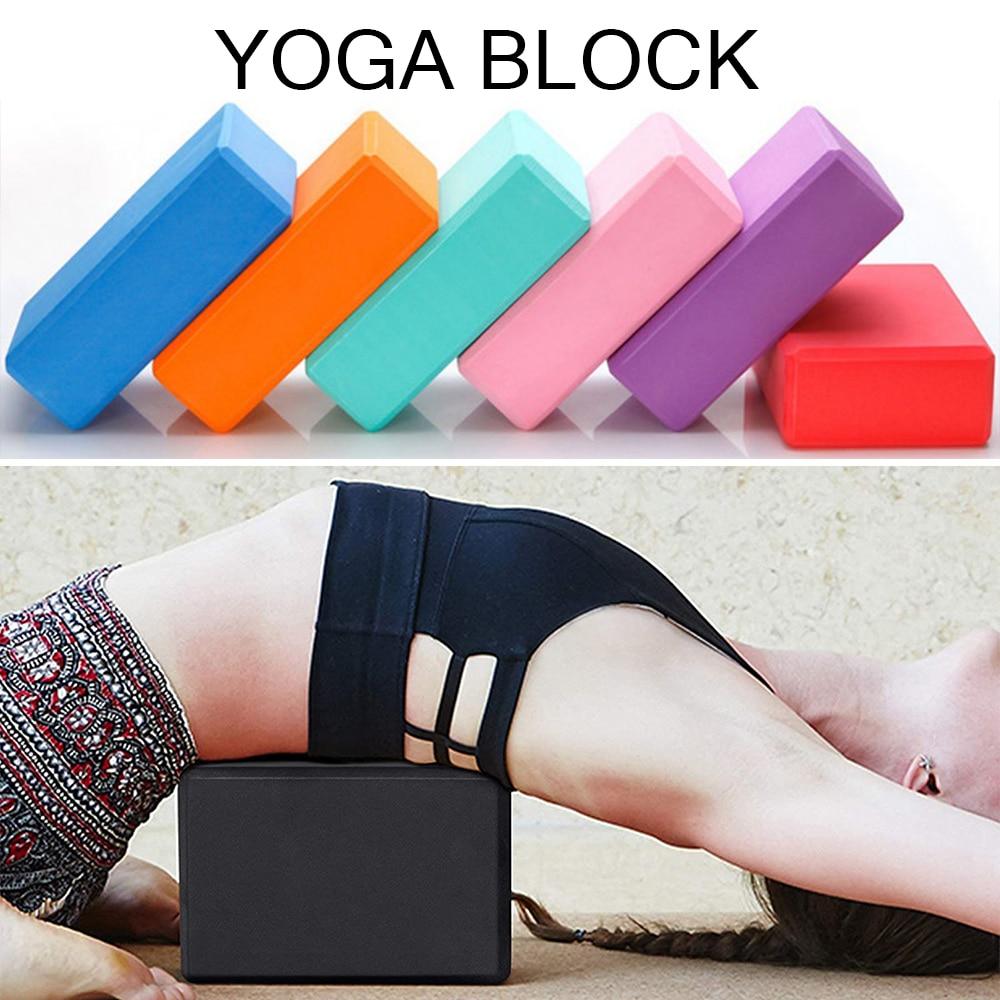 Sfit EVA Yoga Block Foam Brick Stretching Aid Gym Pilates For Exercise Fitness Shaping Health Training Yoga Bolster Pillow