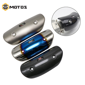 ZS MOTOS Universal Motorcycle Stainless Exhaust Protector Heat Shield Cover For AR SC Yoshimura Exhaust Muffler Cover(China)