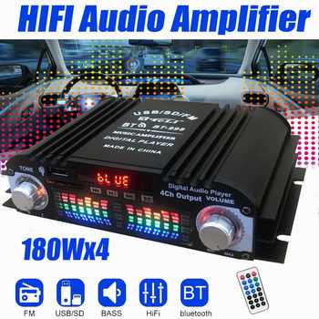 BT-998 Hifi Audio Home Digital Amplifiers Car Audio Bass Power bluetooth Amplifier FM USB SD Radio Subwoofer Speakers 12V/220V image