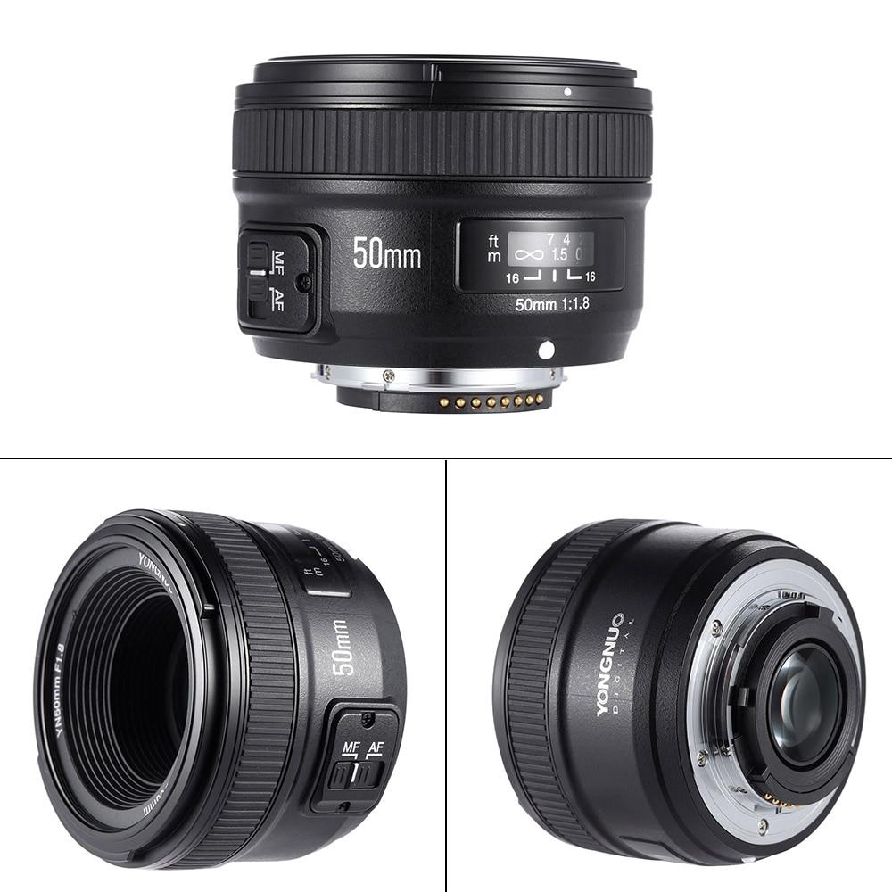 Объектив YONGNUO YN50mm F1.8 с большой диафрагмой AF для Canon Nikon D800 D300 D700 D3200 D3300 D5100 D5200 D5300 DSLR Объектив камеры 50 мм