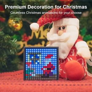Image 5 - Divoom מוסת הזמן Evo Bluetooth נייד רמקול עם שעון מעורר לתכנות LED תצוגה עבור פיקסל אמנות יצירה ייחודי מתנה