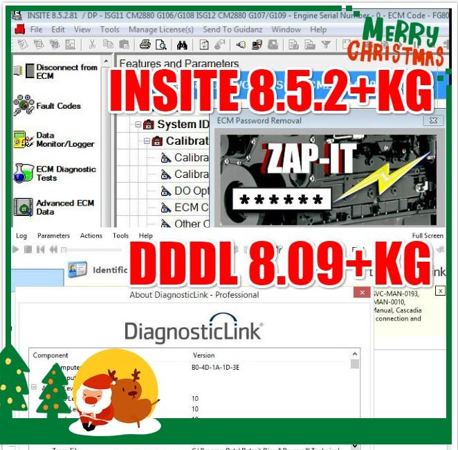 أداة خدمة إلكترونية جديدة من موقع 8.5.2 مع أداة تشخيص الديزل Zapit + Detroit + SP2 احترافية 8.09 مستوى 10 + keygen